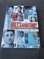 Greys Anatomy- Complete Second Season 2: (New DVD, 2006, 6-Disc Set) w Slipsleev
