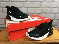 NIKE AIR MAX 270 UK 12 EUR 30 BLACK WHITE TRAINERS CHILDRENS GIRLS BOYS T