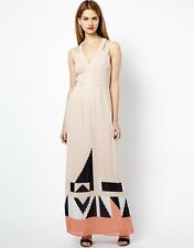 NWT French Connection Pink Marquee Parade Maxi Pleated Dress Small S 6 10