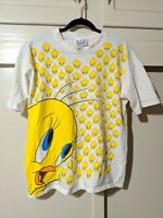 Vtg Looney Tunes T Shirt 90s Tweety Bird All over print single stitch  L?