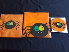 Halloween - Spider Party Range - Napkins, Tablecloth, Invites (small postage)