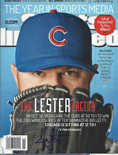 JON LESTER 'CHICAGO CUBS' 2015 MLB PITCHER SIGNED SI MAGAZINE *COA 3