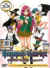 ANIME DVD ROSARIO VAMPIRE Sea 1&2 Vol.1-26 End English Dubbed + FREE DVD