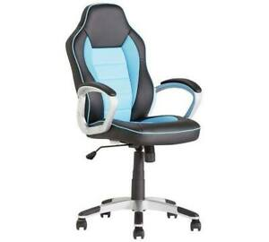 Argos Home Racing Style Office Gaming Chair - Blue -