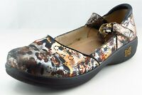 Alegria Mary Jane Brown Leather Women Shoes Size 42 M