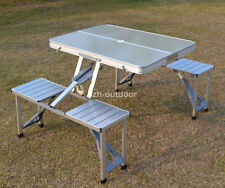 Portable Outdoor Aluminum Folding Furniture Set Garden Camping Table & Chairs