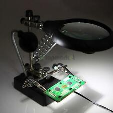 High Quality 3 Lens LED Light Jewelry Desktop Magnifier Loupe Magnifying Glass