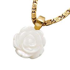 Echte Edelmetall-Halsketten & -Anhänger ohne Steine aus Gelbgold mit Florales