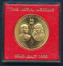 ROYAL WEDDING IN WESTMINSTER MEDAL PRINCE ANDREW MISS SARAH FERGUSON BOXED 1986