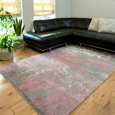 Blush Pink Abstract Rug Small Large Living Room Rugs Non Shed Marble Effect Rug