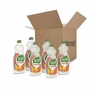 6 Pack Seventh Generation Dish Liquid Soap Clementine Zest & Lemongrass 25 oz