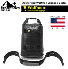 Wolfman Luggage Medium Black Rolie Bag *Waterproof* Dry Sack for Seat or Rack