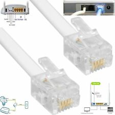 2M 3M 5M 10M 15M 20M lunga RJ11 4Pin ADSL Internet a banda larga Modem Router Cavo