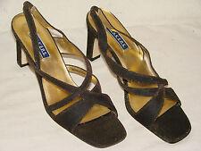 Bakers Night Time Womens Gold Lame' Dressy Heel Sandal Shoe NWOB - Size 8.5M