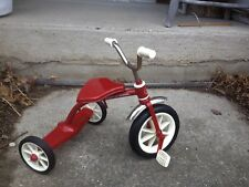 "Collectible Model Metal Red Radio Flyer Tricycle~ 12-1/4"" H To Top Of Handle~"