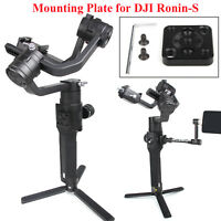 CNC Aluminum Monitor Mount Adapter Plate Bracket For DJI Ronin-S Handheld Gimbal