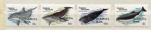 FAUNA_898 1983 Antigua BARBUDA MAIL OVERPRINT marine life fish dolphin whale 4pc