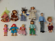 Mixed Lot Family Dolls' House Dolls Sets