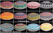 5 Pcs Large Mandala Floor Pillows Wholesale Lot Round Tapestry Cushion Cover 32""