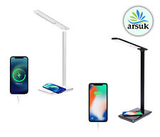 More details for led desk lamp wireless charger usb port touch 4 colors mode 2 level timers