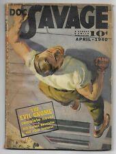 Doc Savage Magazine April 1940 Original Pulp Magazine The Evil Gnome