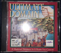 Ultimate Domain (PC Game, Windows, 1994, Mindscape) Complete Rare, (New, Sealed)