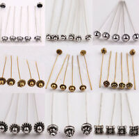 20/100X 50Mm Silver Gold Plated Metal Head/Crown/Ball Pins Charm Jewellery Gift