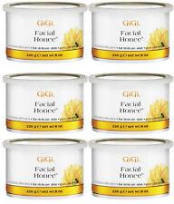 6 Cans of GiGi Facial Honee Wax 14 oz #0310
