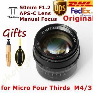 DHL TTArtisans 50mm F1.2 APS-C Lens MF for Micro Four Thirds Camera GH4 GH3 EM1