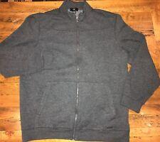 CK Calvin Klein Mens XL Full Zip Knit Jacket Sweater Dark Gray Midweight