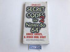Guide Brady Games - Secret Codes 2 For Nintendo 64 N64 - Anglais / English