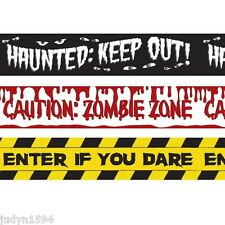 PACK OF 3 HALLOWEEN HORROR FRIGHT TAPE PARTY DECORATIONS BLOOD ZOMBIE HAUNTED