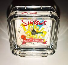 The Simpons 200th Episode Anniversary Clock Rare Fox Studios Gift Homer Bart