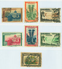 BRAZIL 1937 Pictorials - Garden, Falls, Palace set Scott # 446-449, 455-456 used