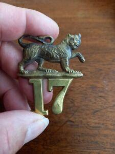 17th Foot, Mid Victorian Cap badge, very rare.