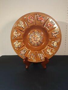 Vintage Zodiac Horoscope  Plate ,Platter, Bowl, Decorative Collectible.