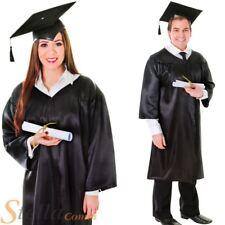 Unisexe Noir graduation déguisement costume toque universitaire chapeau