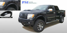 BLACK PAINTABLE Pop-Out Bolt Style Fender Flares 2009 - 2014 Ford F-150 Full Set