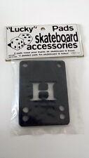 2 x LUCKY RISER PADS - Black Skateboard Spacer NOS - SKATEBOARD - OLD SCHOOL