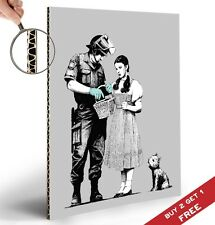 BANKSY WIZARD OF OZ DOROTHY A4 POSTER Graffiti Street Wall Art Print Picture
