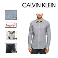 SALE! Calvin Klein Men's Slim Fit Wrinkle Resistant Button Up Shirt VARIETY A14
