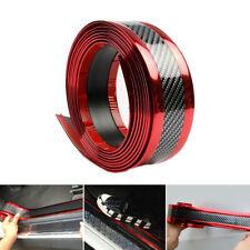 Accessories Carbon Fiber Vinyl Car Door Sill Scuff Plate Sticker Protector Red