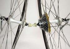 VINTAGE SHIMANO 105 1055 WOLBER GTX ROAD BICYCLE 7 SPEED 700C WHEEL SET 622-14
