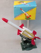 1960's Rocket Age working rocket launcher Near Mint In Box plastic Hong Kong
