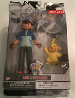 Pokemon Series Ash W/ Avec Pikachu Figures JAKKS Pacific Target Exclusive