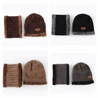 Hat Neckerchief Winter Scarf Cap Men Women & Knit Wool Warm Beanie