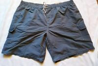Men's Foundry Swim Trunks Shorts Elastic Waist Blue 5XL Big & Tall Cargo #B