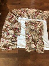 Ralph Lauren Coastal Gardens King dust ruffle bed skirt Exc bedskirt Pillow Sham