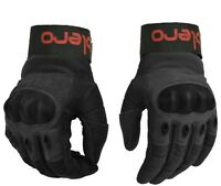 ISLERO Leather All Weather Motorbike Motorcycle Gloves Carbon Fiber Knuckle
