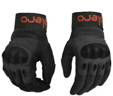 ISLERO Leather All Weather Motorbike Motor Cycle Gloves Carbon Fiber Knuckle